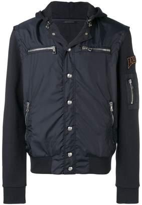 Balmain hooded patch jacket