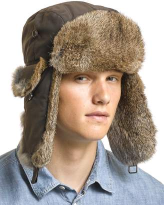 frr B-52 Aviator Hat with Back Rabbit Fur