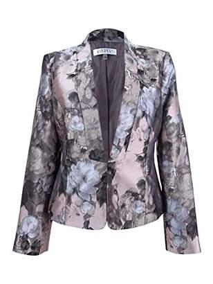 Kasper Women's Kiss Front Floral Jacket