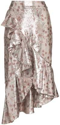 Johanna Ortiz Cacica Asymmetric Sequin Skirt