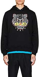 Kenzo Men's Tiger-Embroidered Cotton Hoodie - Black