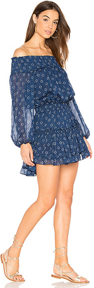 MISA Los Angeles Darla Dress in Blue $246 thestylecure.com