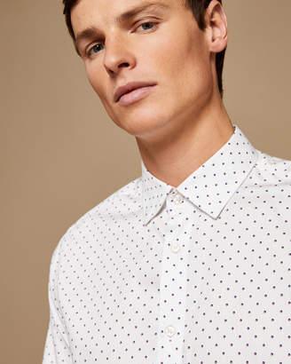 Ted Baker SAANDY Polka dot cotton shirt