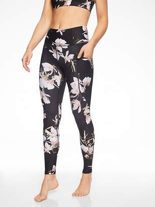 Athleta Stash Pocket Floral Salutation Tight In Powervita