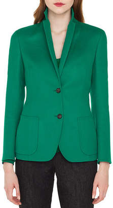 Akris Saigon Two-Button Notched-Collar Cashmere-Wool Blazer