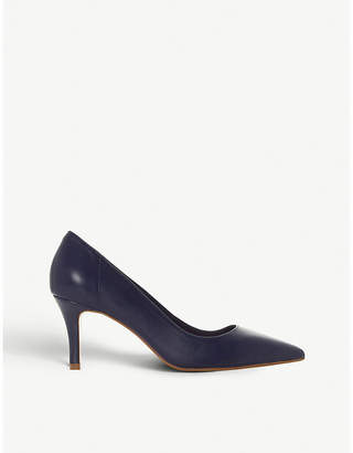 Dune Andrie leather kitten heel court shoes