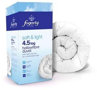 Fogarty 4.5 Tog 'Soft And Light' Luxury Hollowfibre Duvet