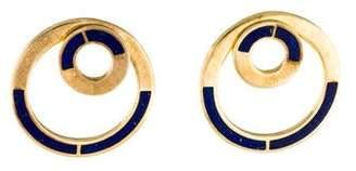 Pamela Love Lapis Quarter Round Earrings