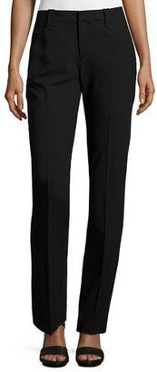 Ralph Lauren Collection Wool-Crepe Straight-Leg Pants, Black $1,090 thestylecure.com