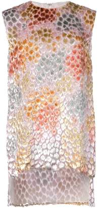ADAM by Adam Lippes painted asymmetric tunic top