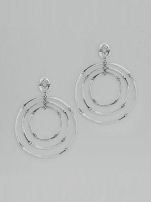 John Hardy Bamboo Circle Drop Earrings