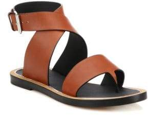 Vince Mailin Leather Flat Sandals
