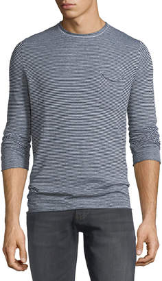 Antony Morato Men's Striped Long-Sleeve Pocket T-Shirt