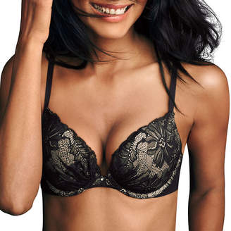 Maidenform Comfort Devotion Embelished Underwire Plunge Push Up Bra-09443j