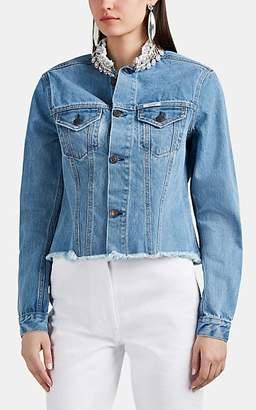Couture Forte Dei Marmi Women's Honour Embellished Denim Trucker Jacket - Blue