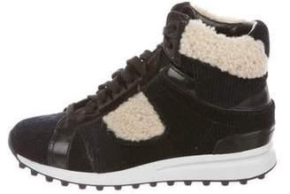 3.1 Phillip Lim Velvet High-Top Sneakers