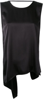 Jucca curved hem tank top $178.11 thestylecure.com