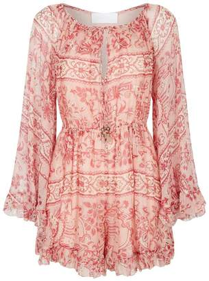 Zimmermann Castile Silk Playsuit