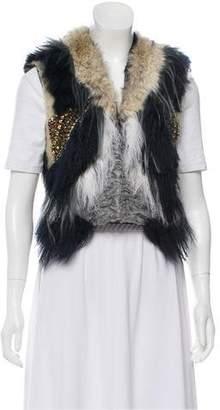 Gucci Embellished Fur Vest