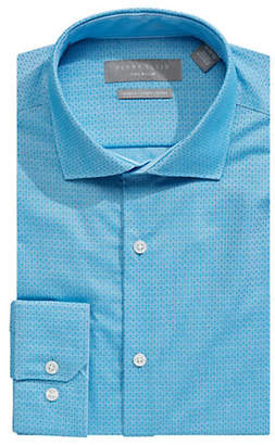 Perry Ellis Printed Slim-Fit Dress Shirt