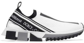 Dolce & Gabbana Sorrento Logo-print Mesh Sneakers - White