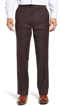 John W. Nordstrom R) Torino Traditional Fit Flat Front Solid Wool & Cashmere Trousers
