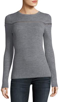 Elie Tahari Emiri Mesh-Inset Sweater