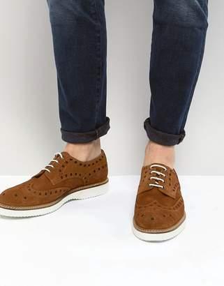 Dead Vintage Suede Cut Out Brogue Shoe