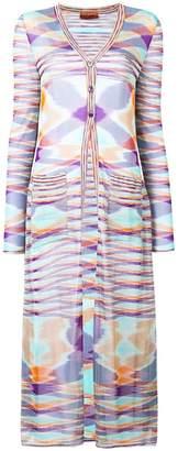 Missoni printed lightweight cardi-coat