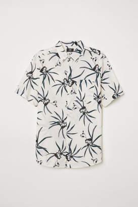 H&M Regular Fit Cotton Shirt - Beige