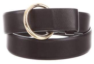 Loro Piana Leather Skinny Belt