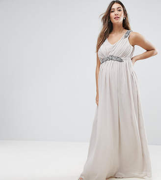 Mama Licious Mama.licious Mamalicious Premium Embellished Maxi Dress