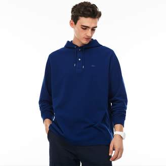 Lacoste Men's Relaxed Fit Pique Hooded T-Shirt