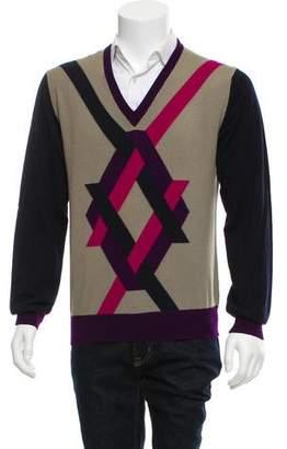 Etro Wool V-neck Cardigan
