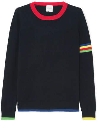 Madeleine Thompson Neptune Striped Cashmere Sweater - Navy