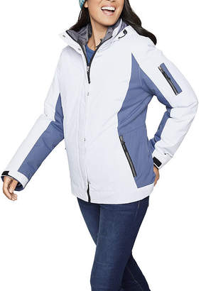 Free Country Woven Hooded Water Resistant Heavyweight 3-In-1 System Jacket