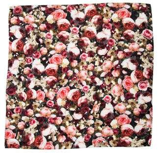 Givenchy Floral Print Silk Scarf