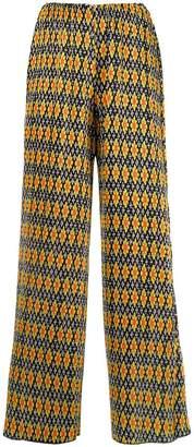 Richard Quinn floral print pleated trousers