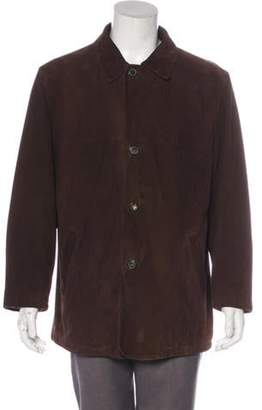 Salvatore Ferragamo Suede Button-Up Jacket wool Suede Button-Up Jacket