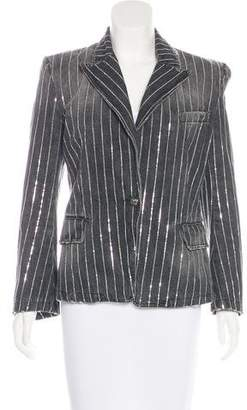 Balmain Embellished Denim Blazer