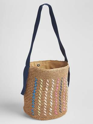 Gap Straw Bucket Bag