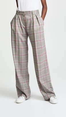 Pallas Delta Wide Leg Plaid Trousers