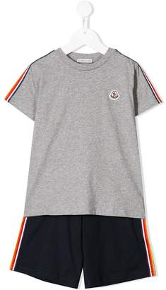 Moncler logo T-shirt and shorts set