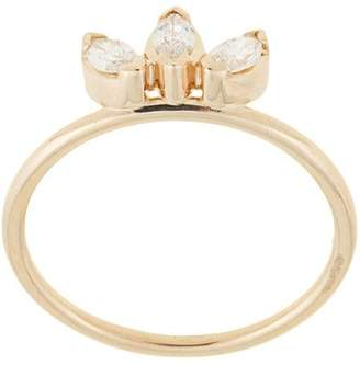 Natalie Marie 14kt yellow gold Three Stone Diamond Sun ring