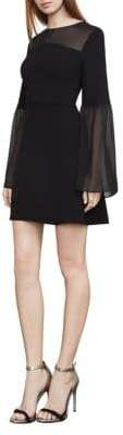 BCBGMAXAZRIA Finley Bell-Sleeve A-Line Dress
