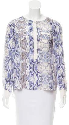 Rebecca Taylor Silk Animal Print Blouse