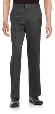 Dockers Straight-Fit Flat-Front No-Iron Herringbone Dress Pant