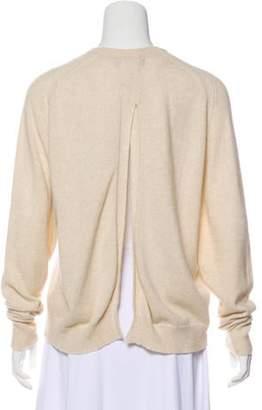 Isabel Marant Backless Crew Neck Sweater Beige Backless Crew Neck Sweater