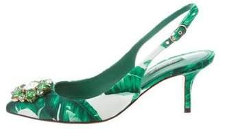 Dolce & Gabbana Embellished Slingback Pumps