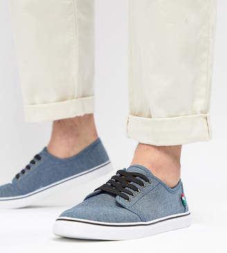 Duke King Size Canvas Lace Up Sneakers In Denim